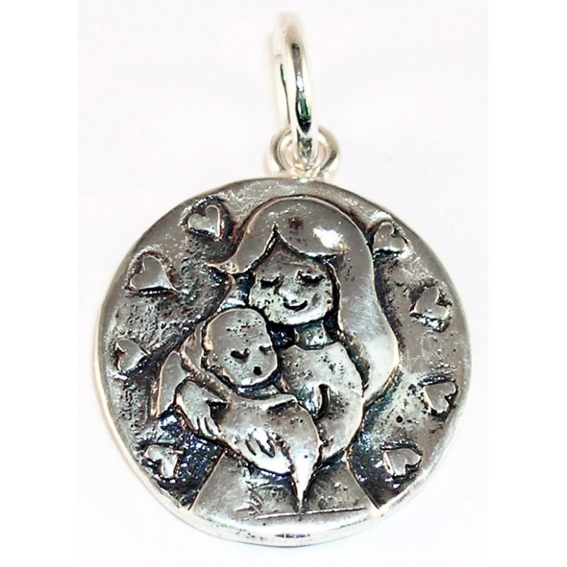 medalla-mama-bebe-plata