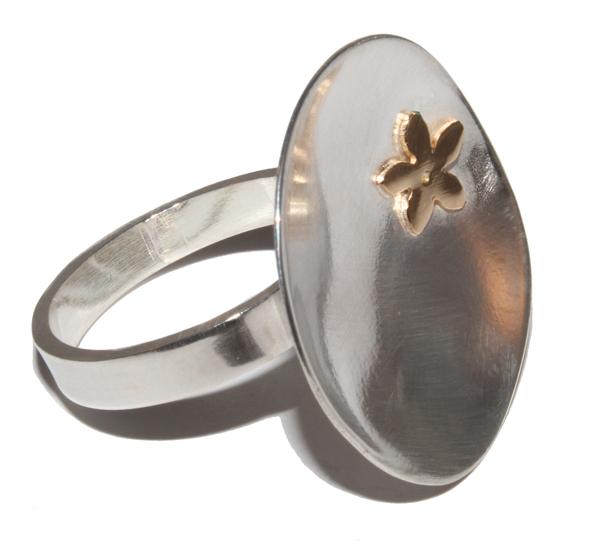 anillo plata rebajas