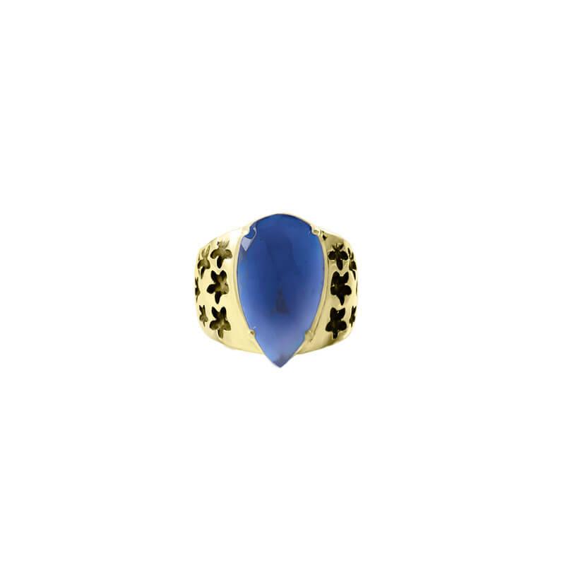Anillo onix azul