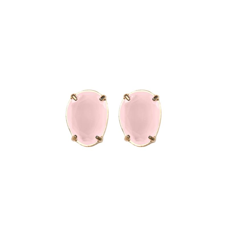 Pendiente-pequeño-sweet-cuarzo-rosa-plata-chapada-oro