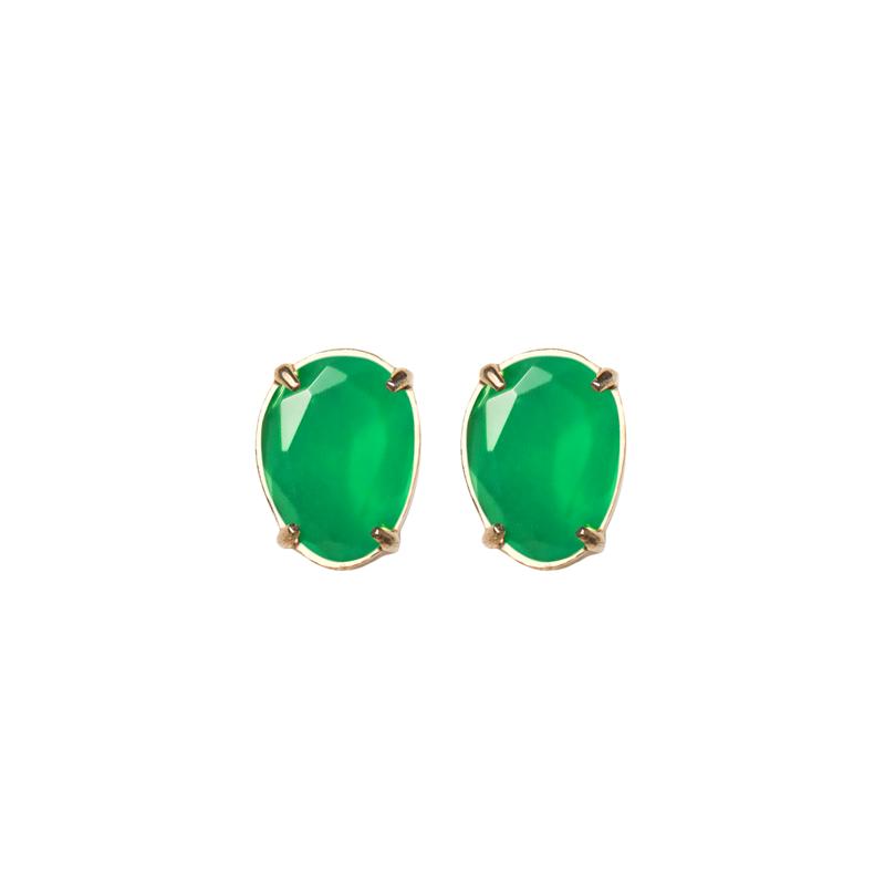 Pendiente-pequeño-sweet-cuarzo-verde-plata-chapada-oro