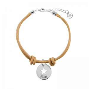 pulsera-de-cuero-camel-con-cierre-y-slim-calada-15mm-estrella-plata