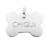 Placas identificativas de plata para perros