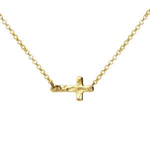 Gargantilla-midi-cruz-martele-chapado-oro
