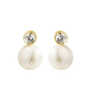 Pendientes-circonita-perla-coin-oro