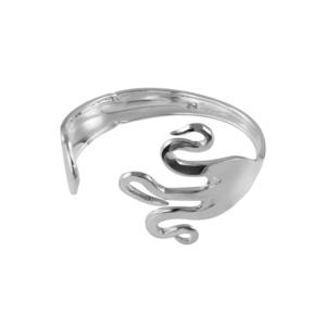 Pulsera tenedor plata