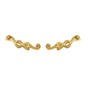 Pendientes-estela-nudo-sencillo-chapado-oro2