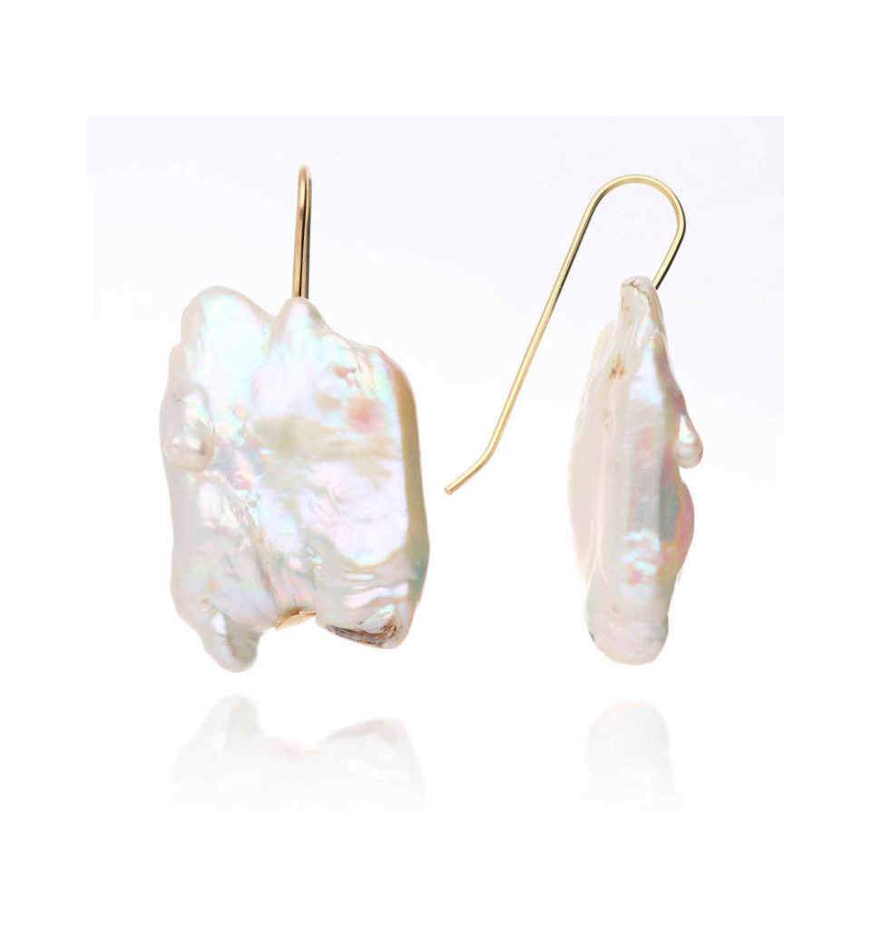 pendientes perlas piedra